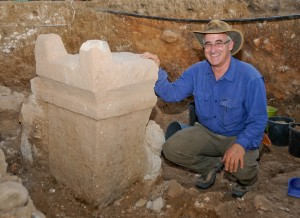Archaeologist Aren Maier and the 2-horned altar