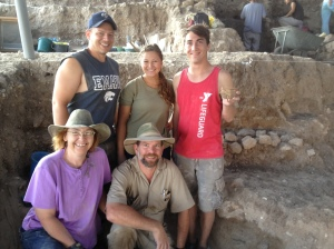 Lower F team with philistine bird sherd