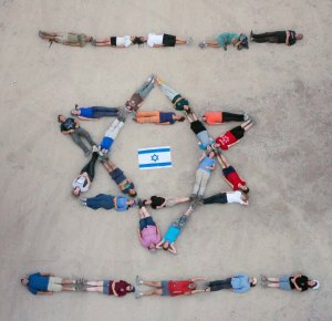aerial picture of israeli flag 2014