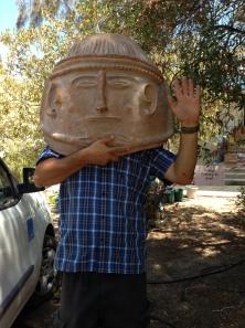 Amit gets a big head