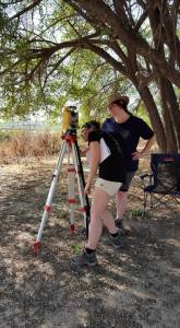 Total station in Area D