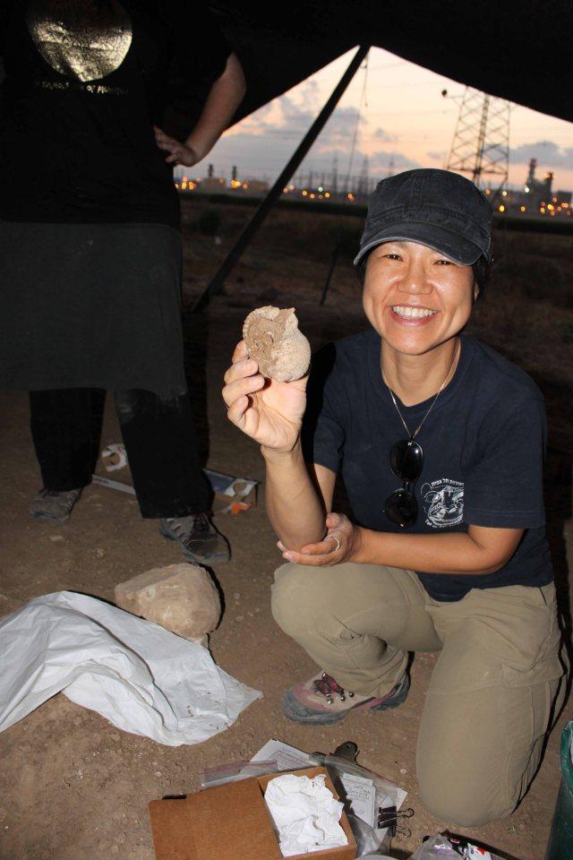 MiYoung holding Tona Galea shell